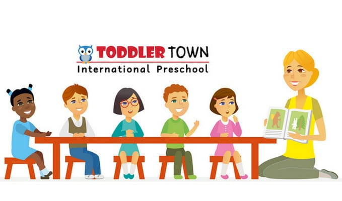 toddler town inclusive classroom illustration